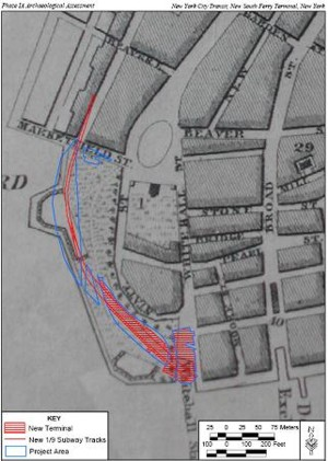 1803 plan showing the Whitehall Slip
