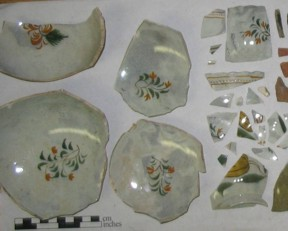 Sample artifacts from WHitehall slip