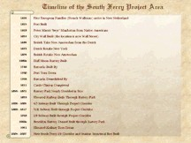 Click for South Ferry Historical Timeline