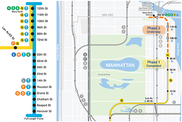 New Second Ave Subway Map.Mta Capital Programs Second Avenue Subway