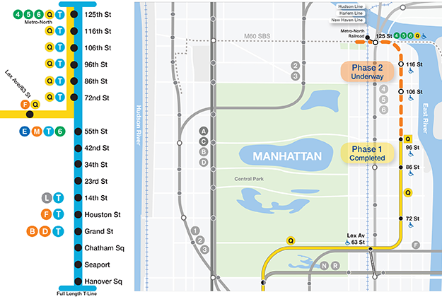 New 2nd Ave Subway Map MTA | Capital Programs Second Avenue Subway