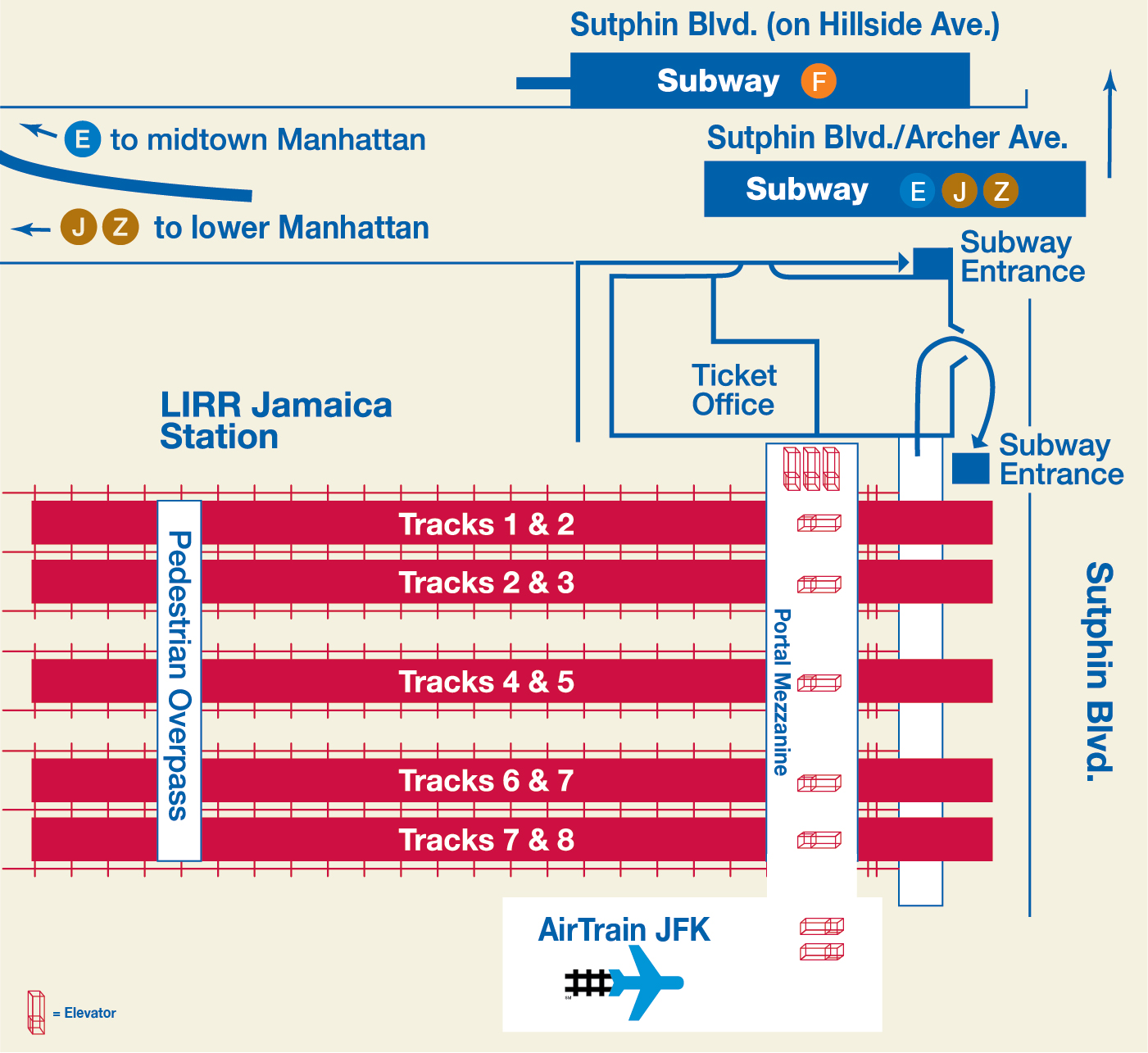 Mta Subway Map Elevators.Mta Lirr Jamaica Service