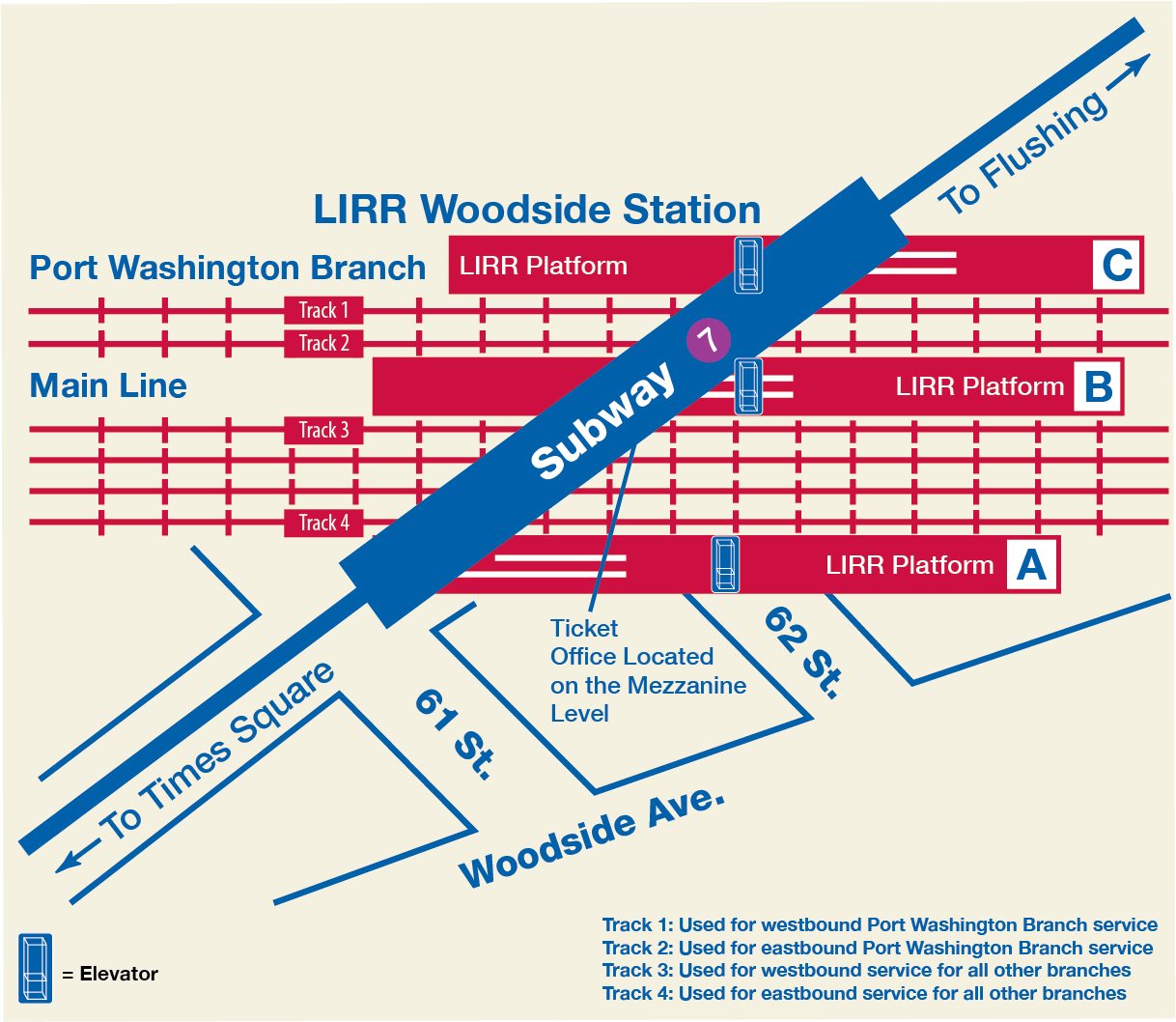 Subway Map Times Square.Mta Lirr Woodside Service