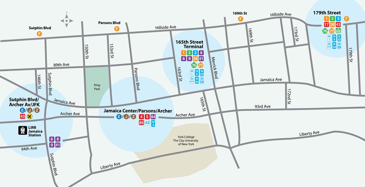 MTA LIRR - TrainTalk - October 2011 Q Bus Map on