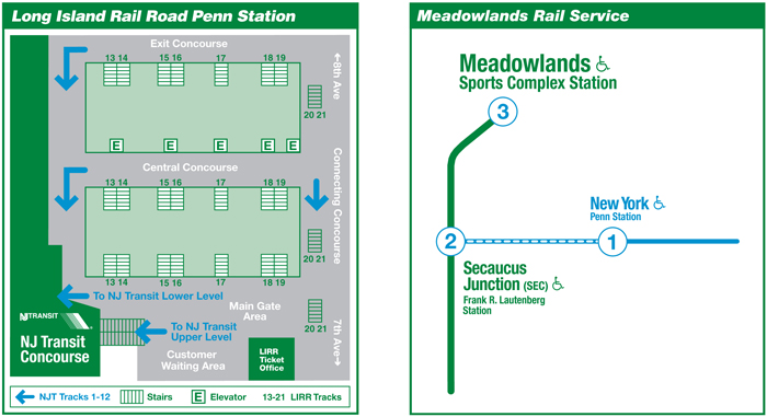 Penn Station Subway Map Penn Station/meadowlands Maps
