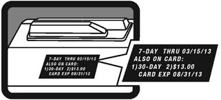 MetroCard reader screen