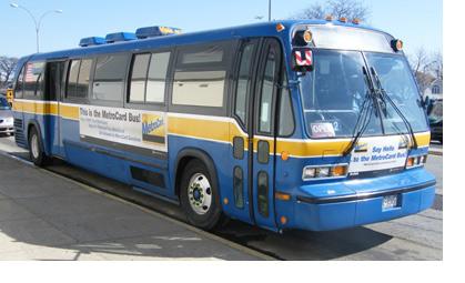 mta new york city transit metrocard bus and van
