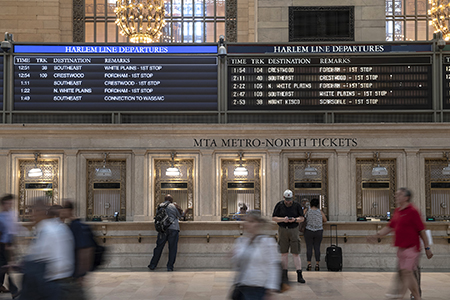 New Display next to Old Display in Grand Central Terminal