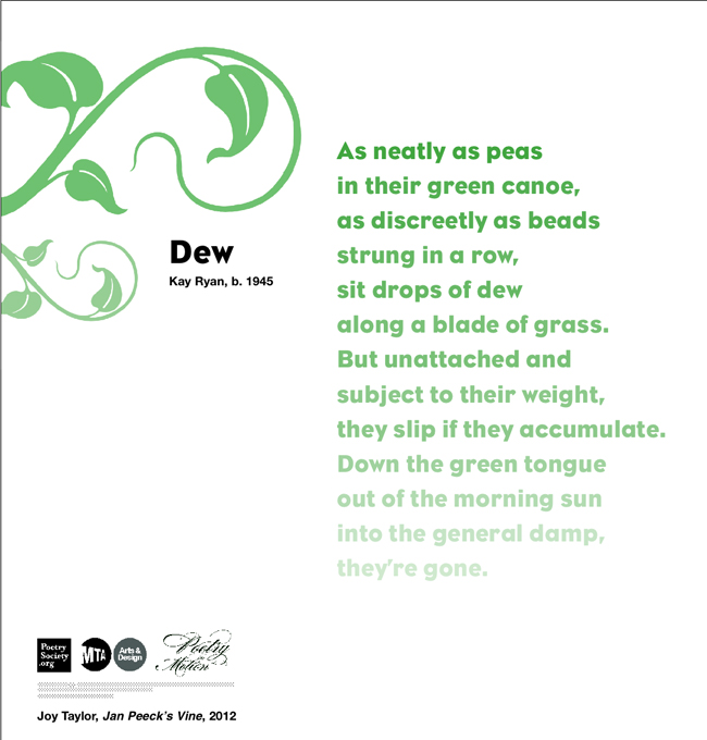Morning dew poem