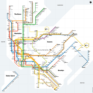 Massimo Vignelli 1972 Nyc Subway Map.Mta Info 110 Years Of The Subway