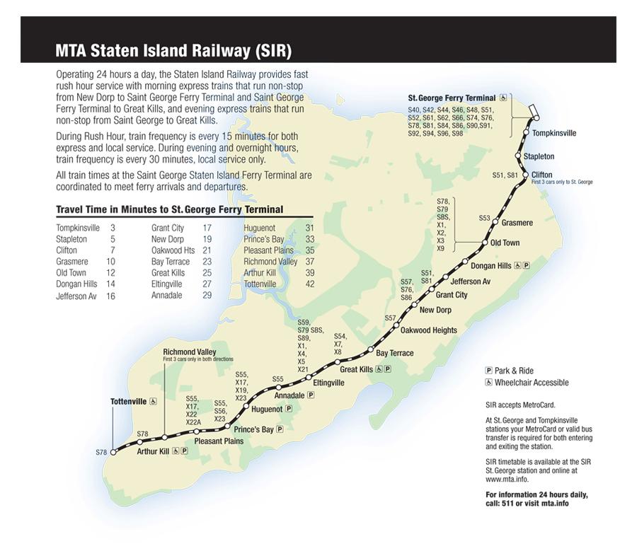 Bus Staten Island Map