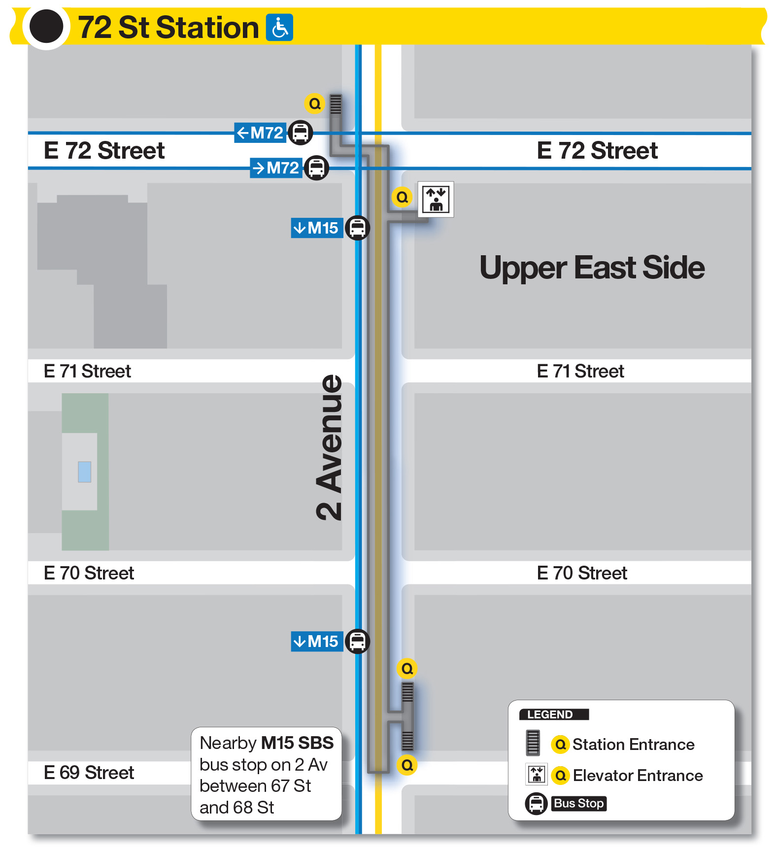 New Second Ave Subway Map.Mta Info Guide