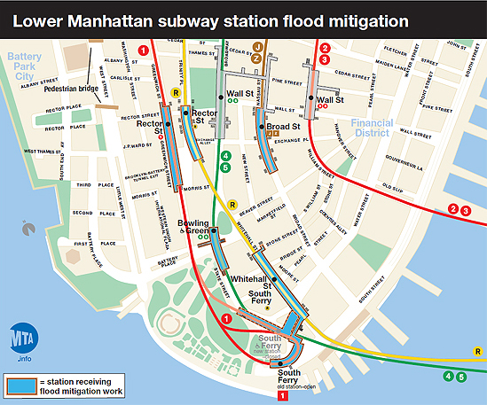 Nyc Subway Map Station Exits.Mta Info Fix Fortify Sandy Recovery Work