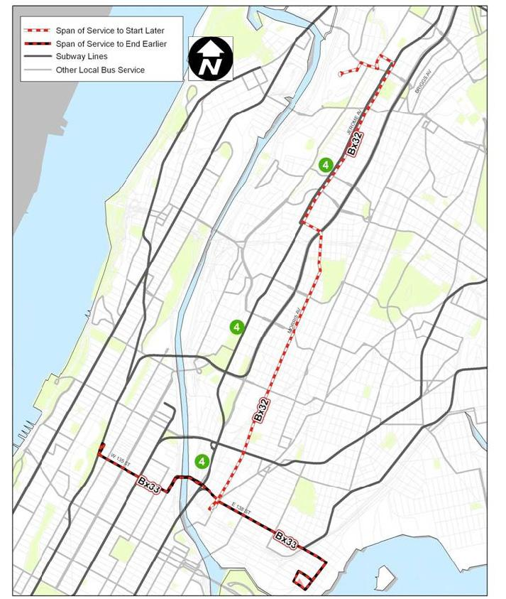 Reduce Spans Of Service On Bronx Local Bus Routes Weekday Spans
