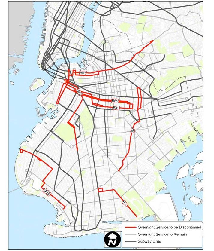 nyc mta brooklyn bus map Mta New York City Transit Nyc Transit 2010 Service Reduction nyc mta brooklyn bus map