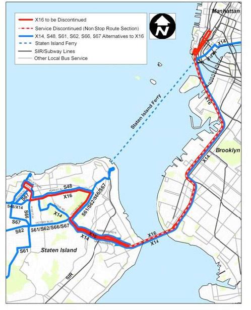 Nyc Express Bus Map Staten Island