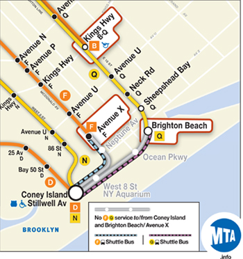 Brighton Beach On Subway Map.Mta Info Planned Service Changes